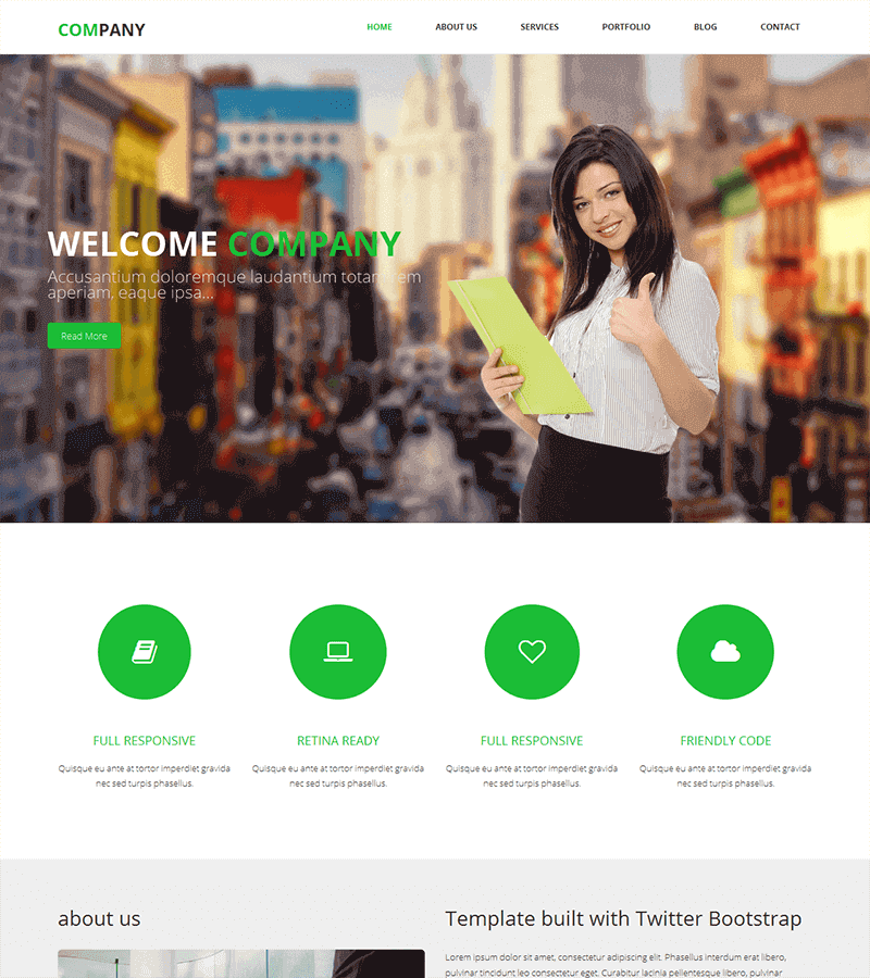 Company – Free HTML Bootstrap Template