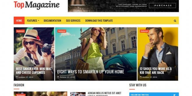 18+ Best Free Magazine Html Website Templates 2018