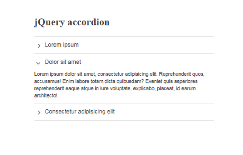 4 Lines jQuery Accordion