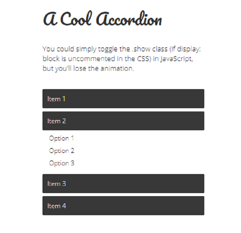 A Simple jQuery Accordion With Unlimited Nesting