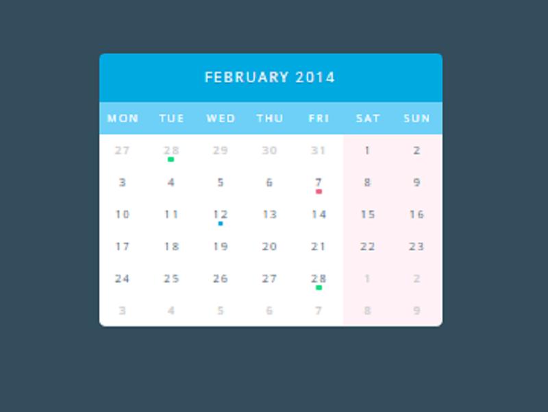 All CSS calendar