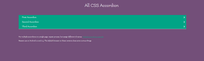 CSS Accordion