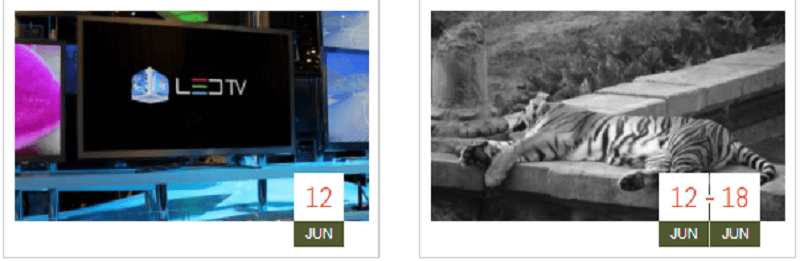 CSS Calendar / Agenda Date Icon