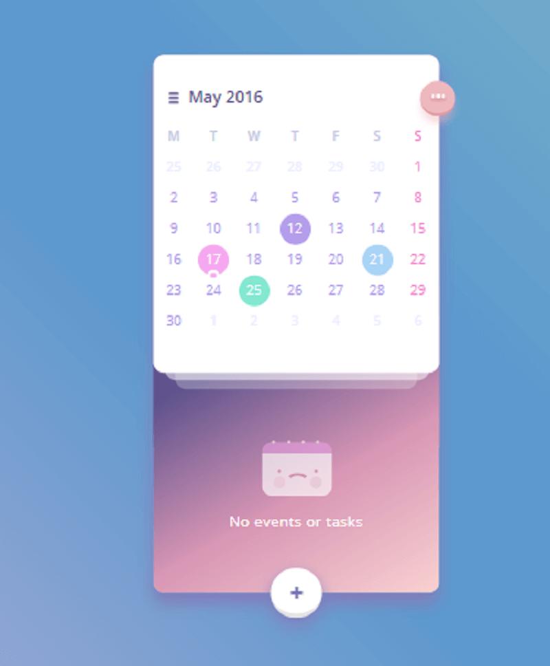 CSS Calendar App