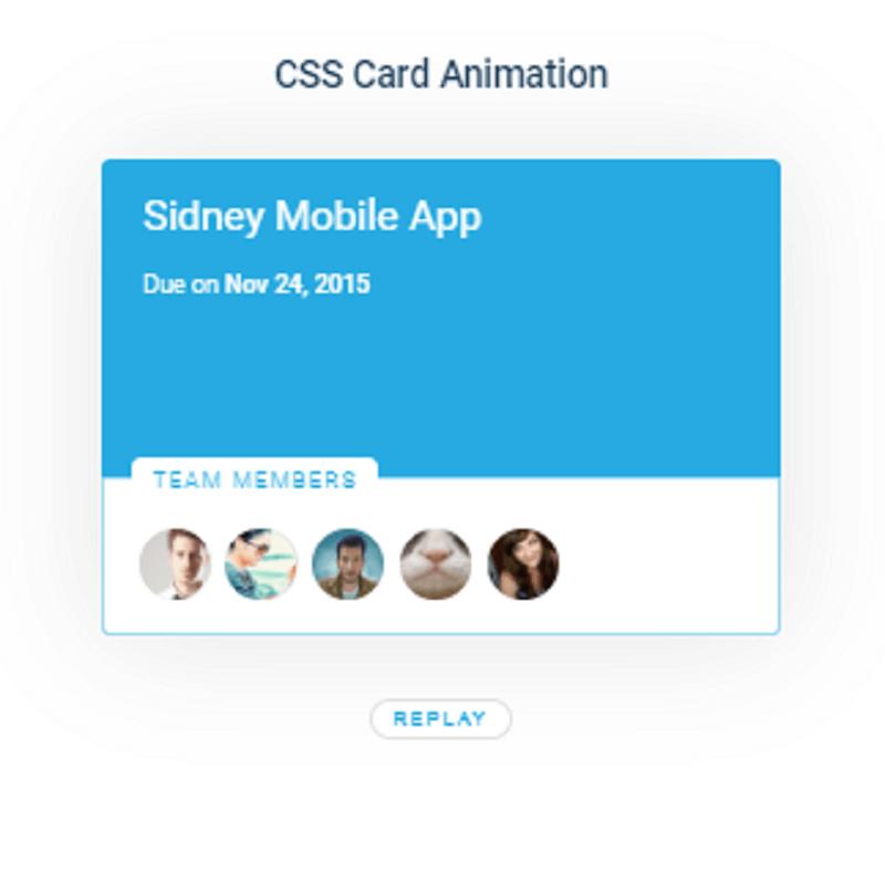 CSS Card Animation