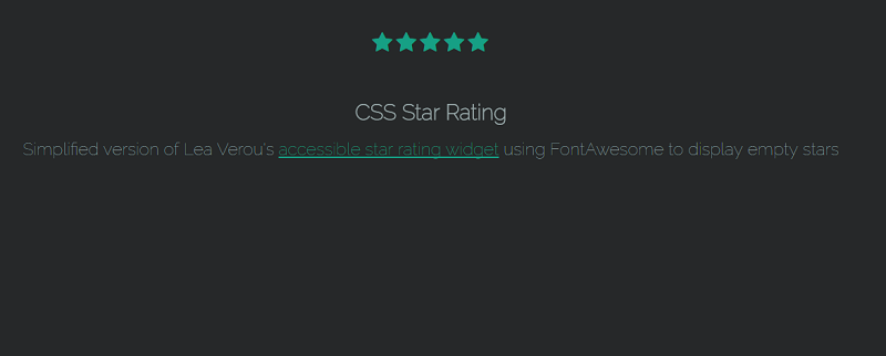 CSS & Radio Button Star Rating