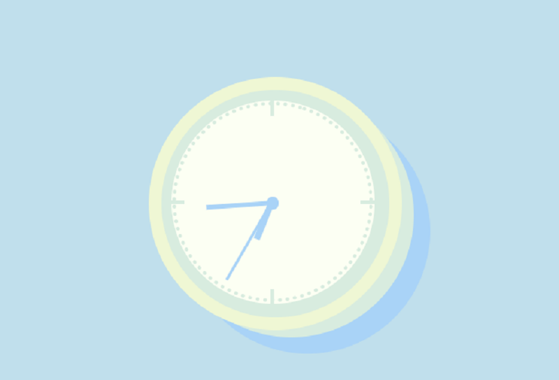 Cute Vanilla Css Clock Ft JS + Blendmodes