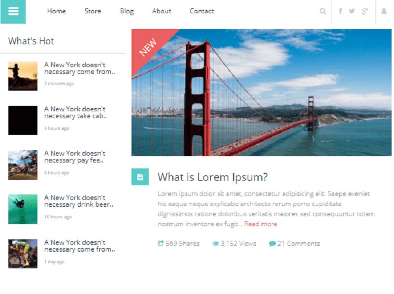 Flat Blog Magazine UI