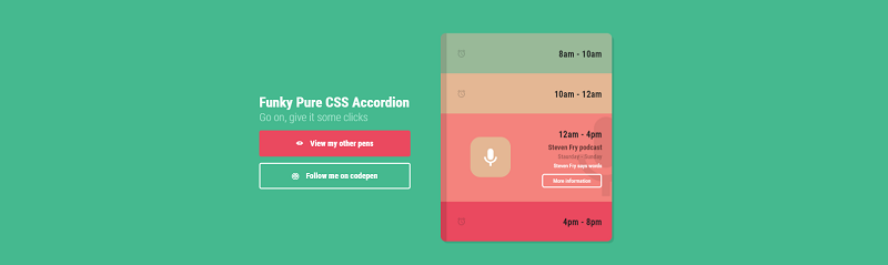 Funky Pure CSS Accordion