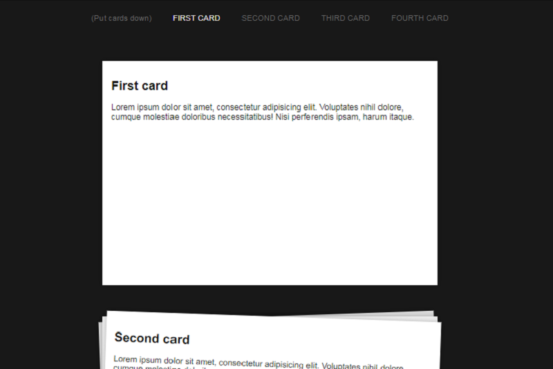 Pure CSS Card Deck