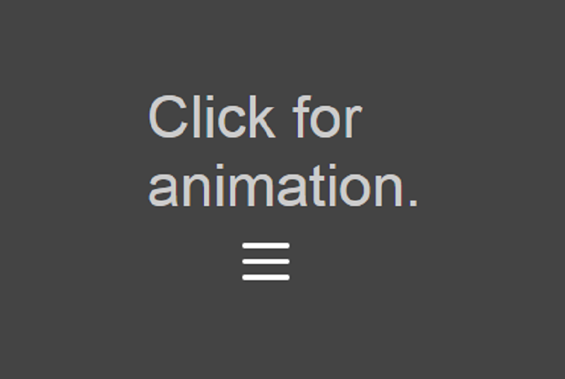 Pure CSS Hamburger Menu Animation