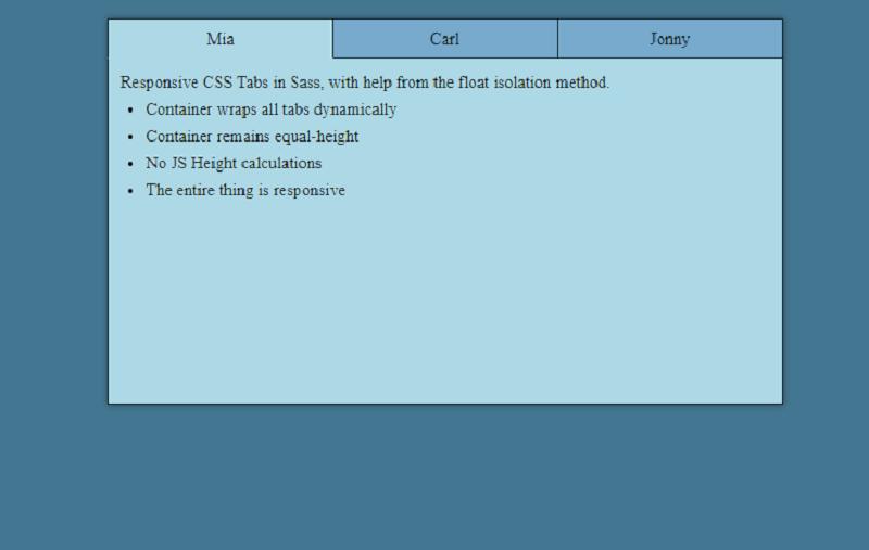 Responsive CSS Tabs