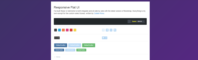Responsive Flat UI Kit