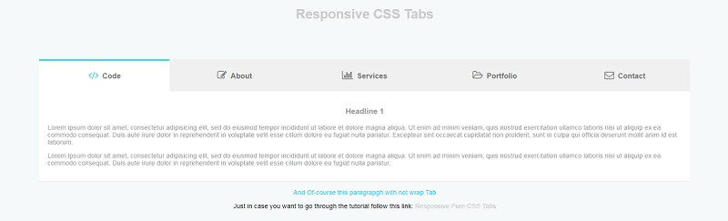 Responsive Pure Css Tabs