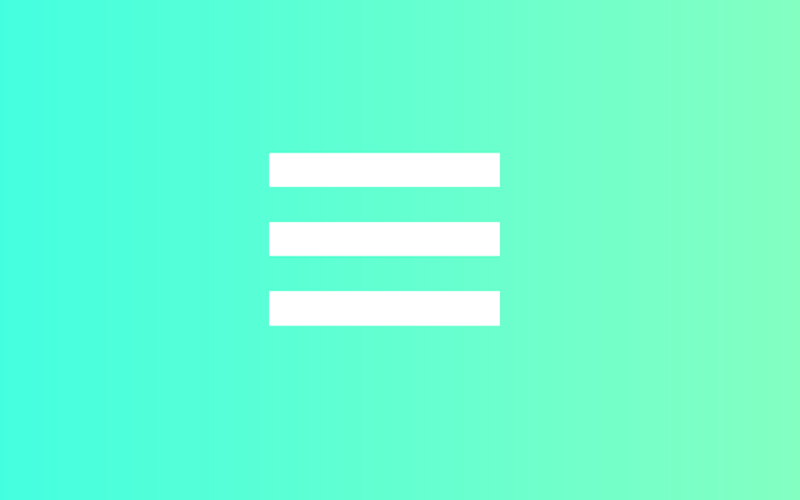 Simple CSS Hamburger Menu Transition