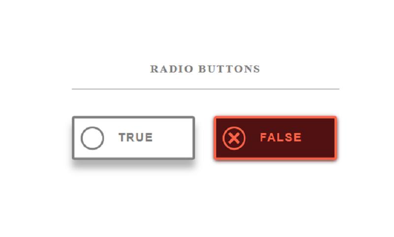 True or False SVG Radio Buttons