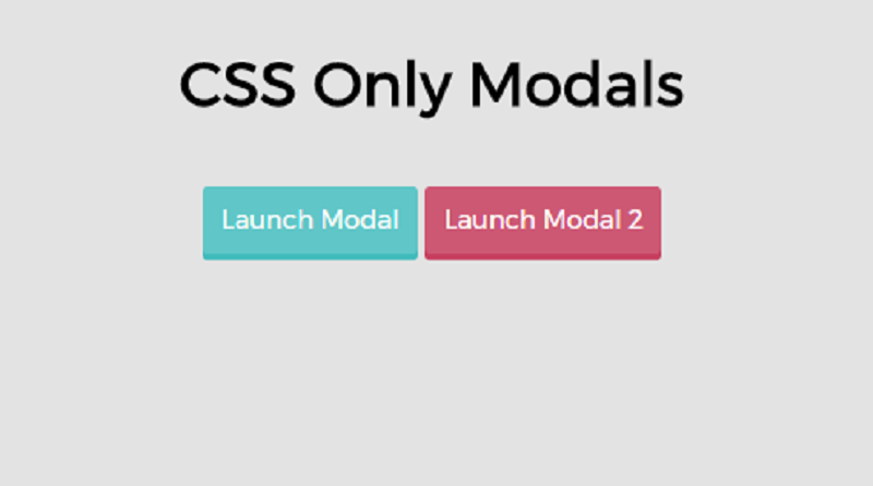 Week 1: CSS Only Modals.
