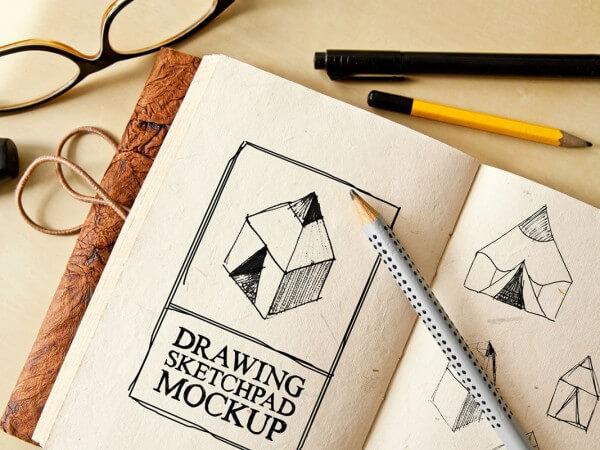 Drawing Sketch-Pad (A5) Mockup