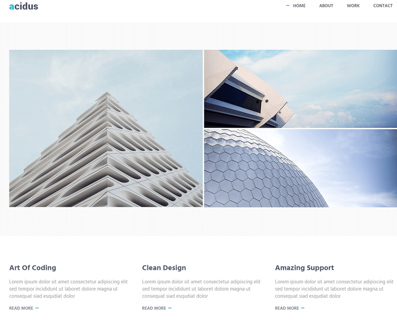 Acidus - Free Bootstrap Agency Business Portfolio Personal Website theme