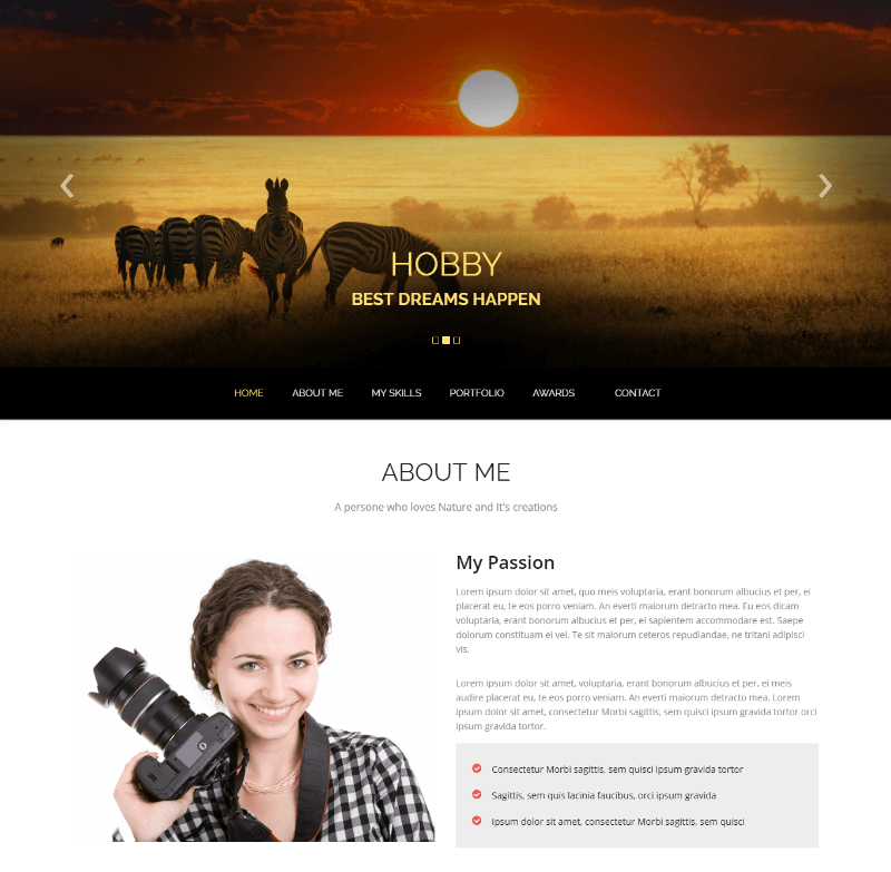 Amaze Photography Bootstrap HTML5 Template