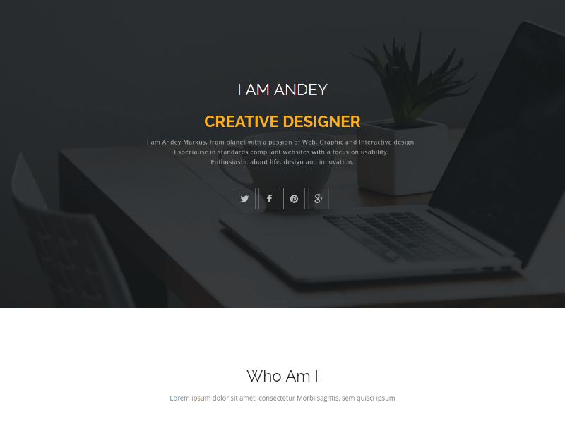 Andey Responsive Bootstrap Portfolio Web Template