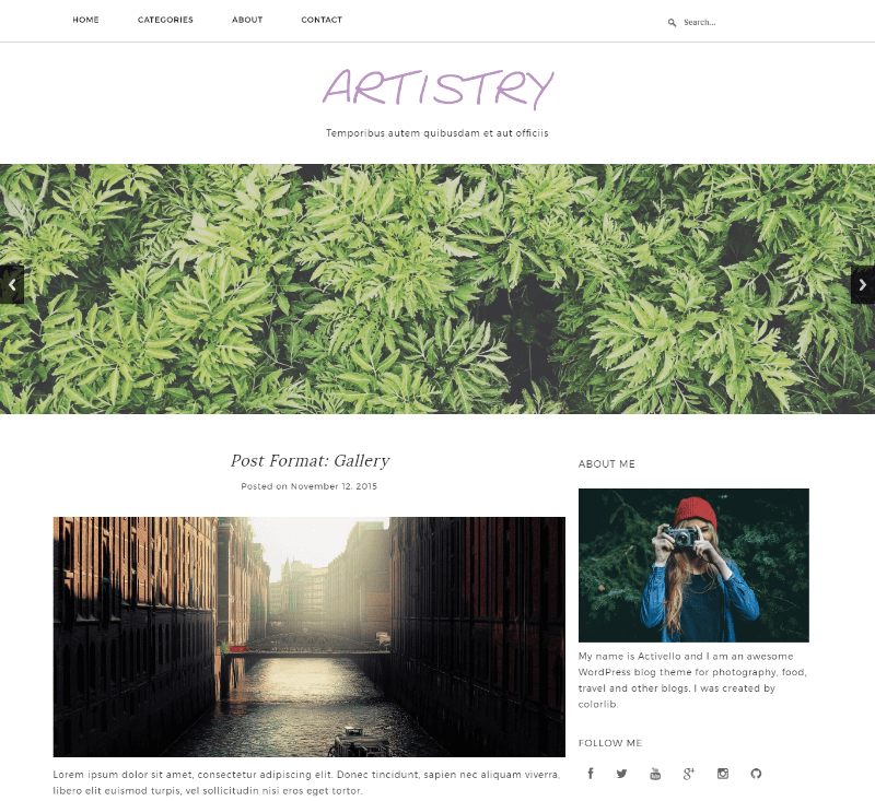 Artistry – Free Responsive Html5 Template