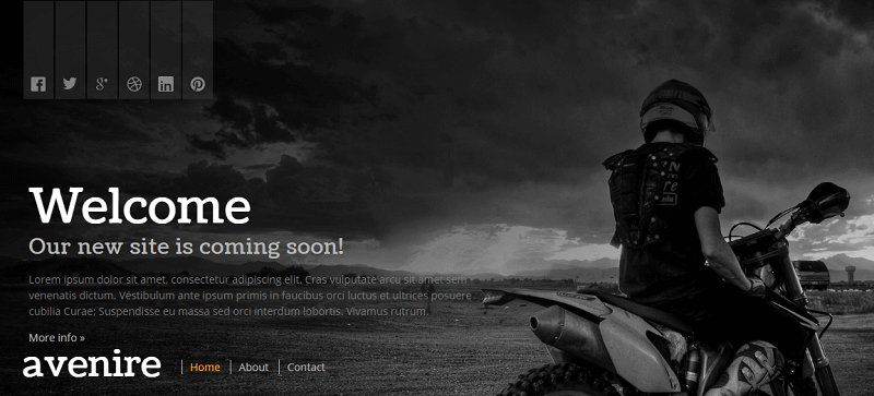 Avenir – Free CommingSoon Theme