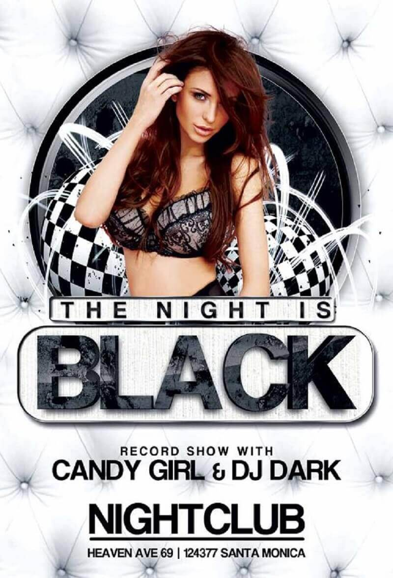 Black Night Club Party Flyer