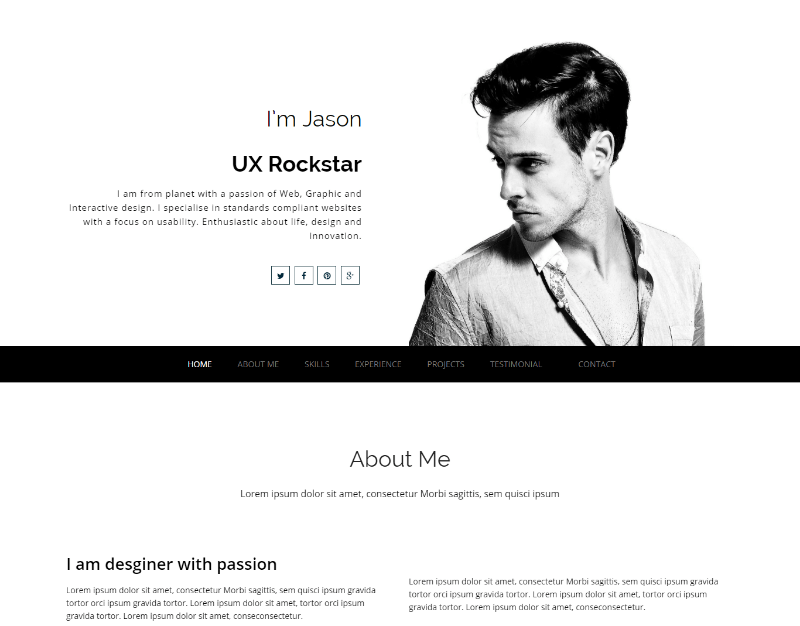 Best Free Creative Resume Template Winner