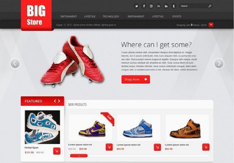 Big Store Free eCommerce Psd Website Template
