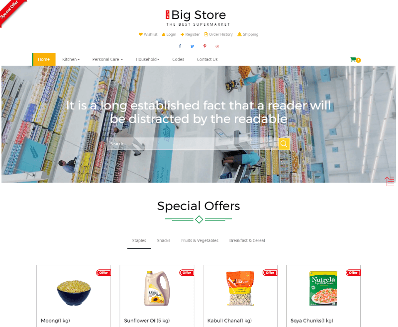 Big store an E-commerce Online Shopping Bootstrap Responsive Web Template
