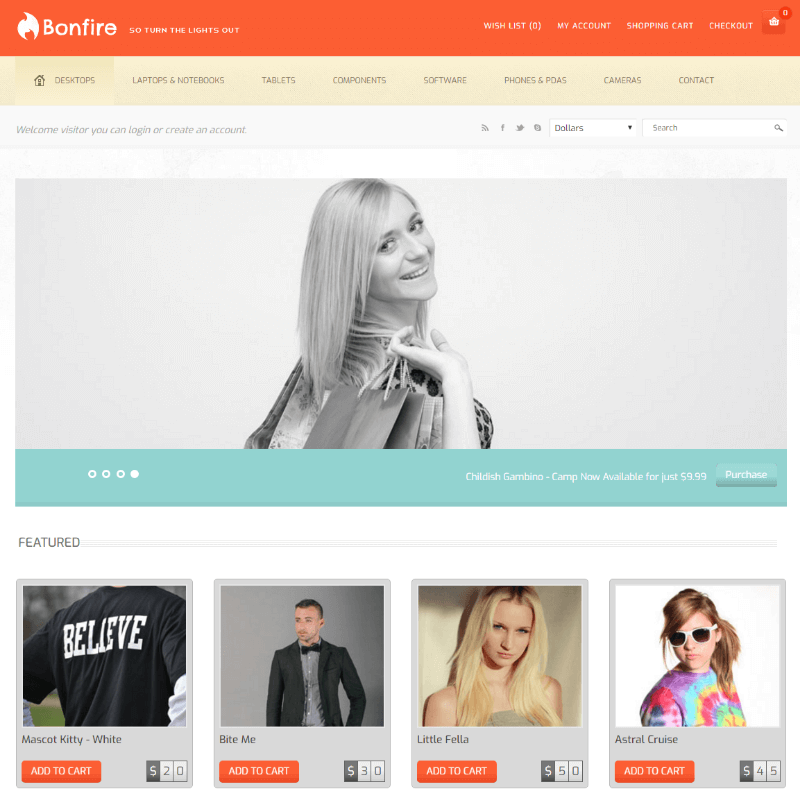 Bonfire a Flat Ecommerce Bootstrap Responsive Web Template