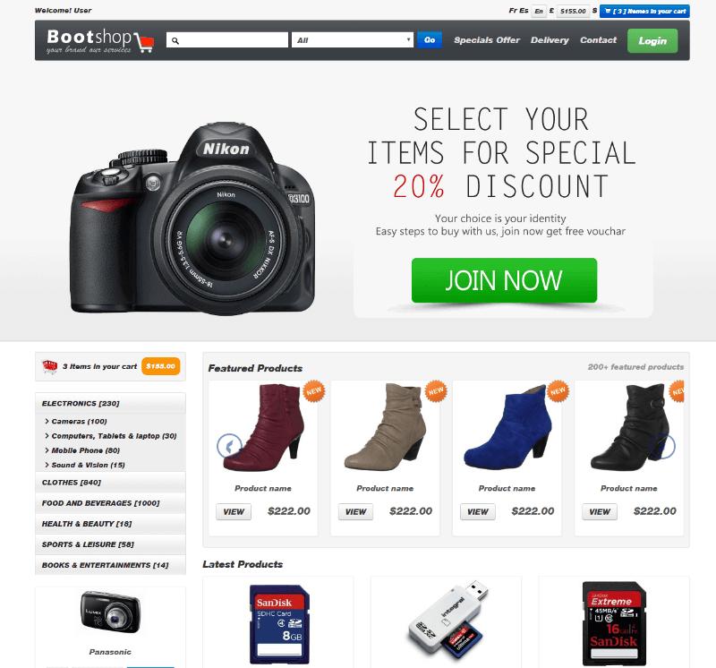Bootstrap Shop