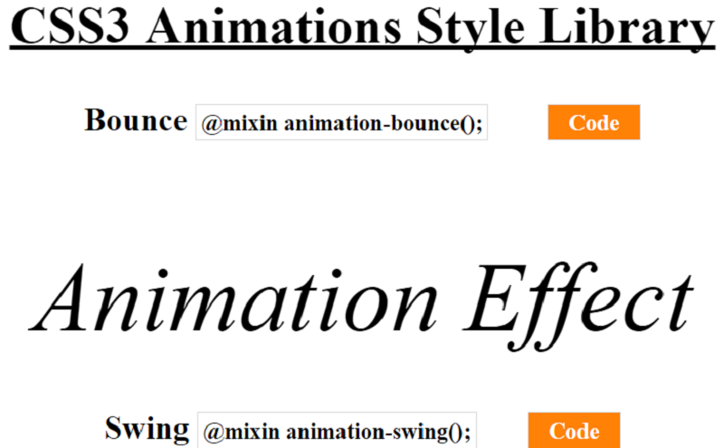 CSS3 Animation Library