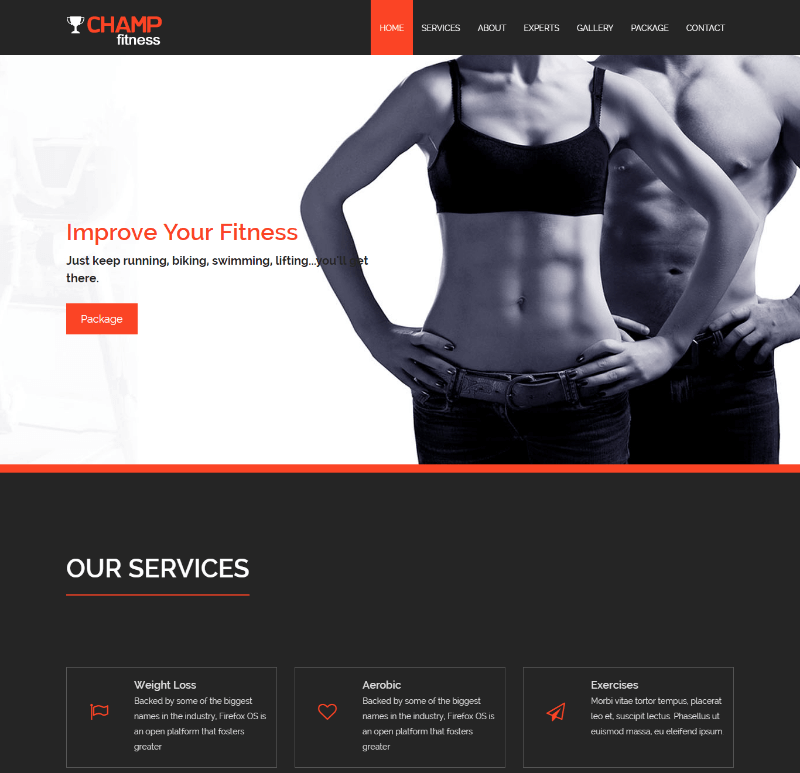 Champ Fitness Gym Html5 Bootstrap Template