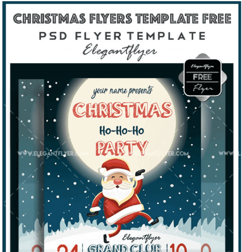Christmas Flyers Template Free – Free Flyer PSD Template + Facebook Cover