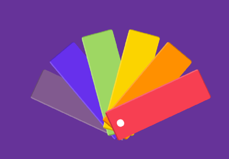 Color Palette with Pure CSS Animation