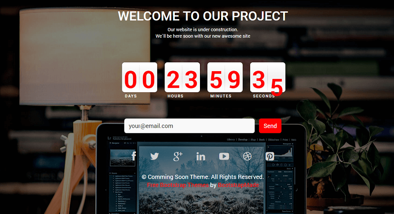 ComingSoon – Free HTML Bootstrap Template