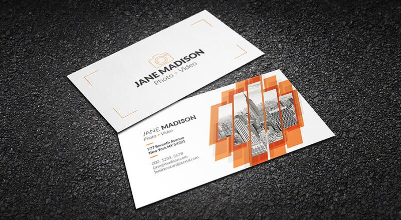 Cool Abstract Photographer Business Card Template
