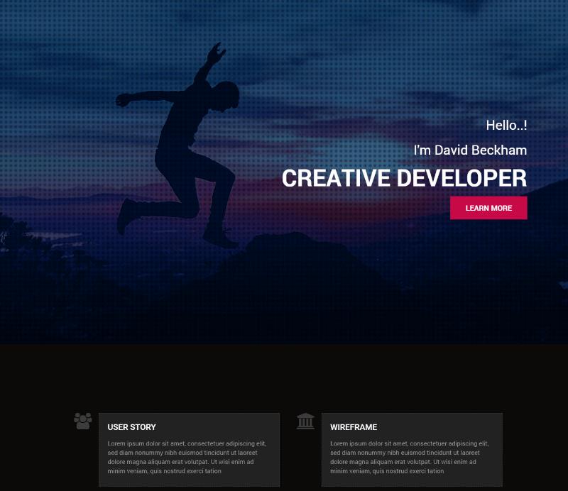 Creative Dev Bootstrap portfolio web template
