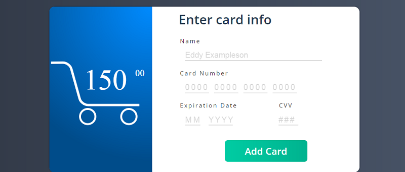 Credit Card Checkout Form