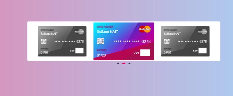 Credit Card Slider + CCV Form