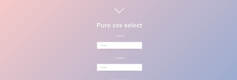 Css Only Select (Radio + Checkbox)