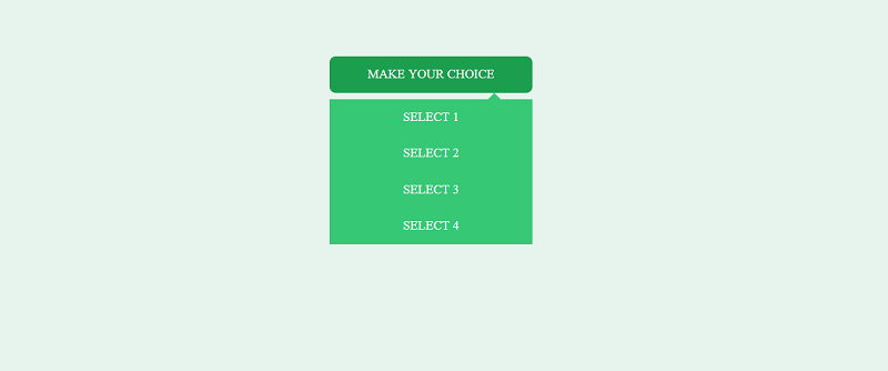 Css Only Select Box