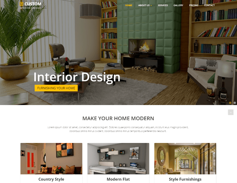 Custom Best Interior Design Website Template