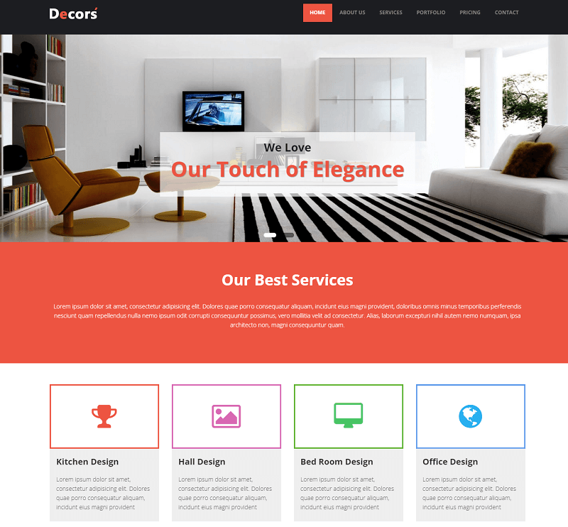 Decors HTML5 Interior Design Website Template
