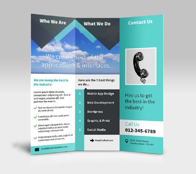 Tri-Fold Brochure PSD Mockup