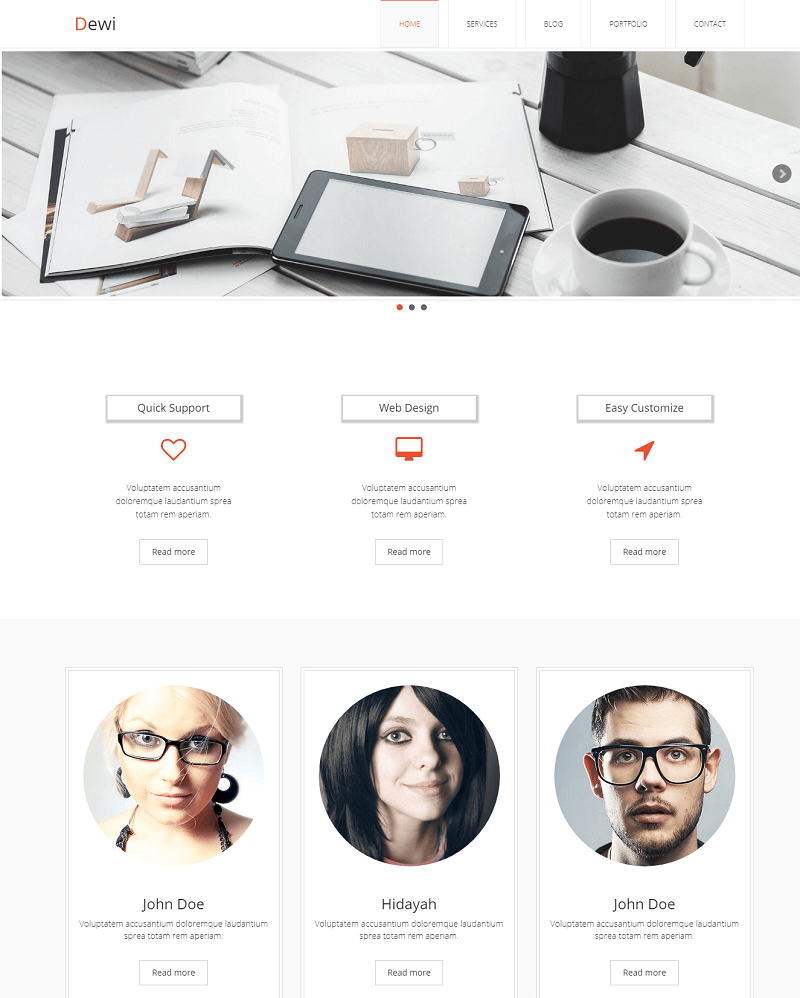 Dewi – Free Multi Purpose HTML Template