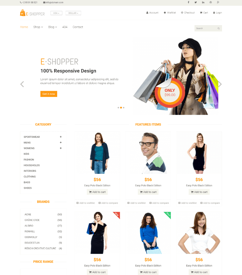 E Shopper Free CSS Template