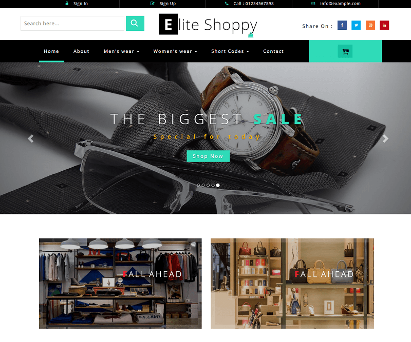 Elite Shoppy an Ecommerce Category Bootstrap Responsive Web Template